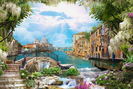 Casas vintage de Veneza em cores