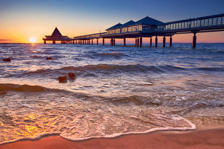 Heringsdorf pier on the island of Usedom