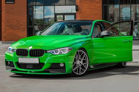 Green sportcar