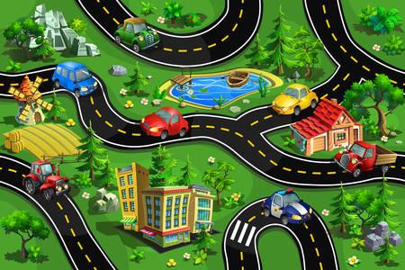 Autos en la carretera