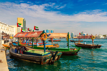 Abra boats in Dubai Creek