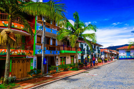 Colorful houses in Guatapa