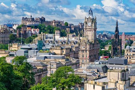 Edinburgh city view