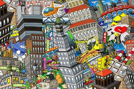 Graffiti City Collage