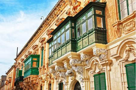 Home architecture in Valletta