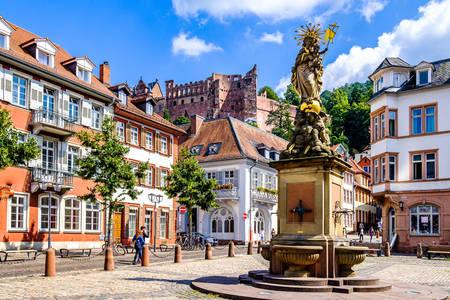 Market square of Heidelberg