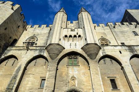 Facade of the Palais des Papes in Avignon