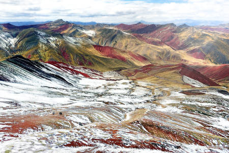 Rainbow Mountains van Peru