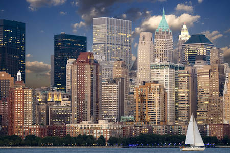 Skyline di grattacieli di New York