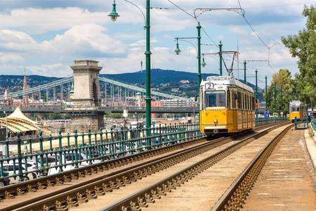 Famous Tramway two in Budapest
