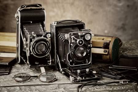 Старинные фотокамеры