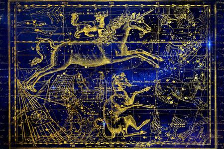 Souhvězdí na hvězdné mapě
