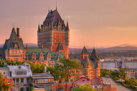 View of the Grand Hotel Chateau Frontenac