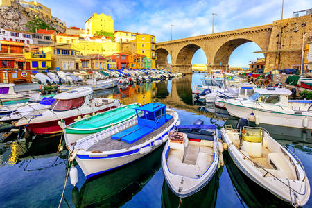 Small fishing harbor in Marseille