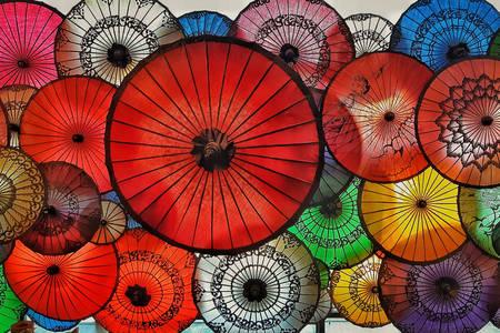 Umbrele în Myanmar