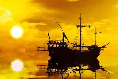 Silueta de velero
