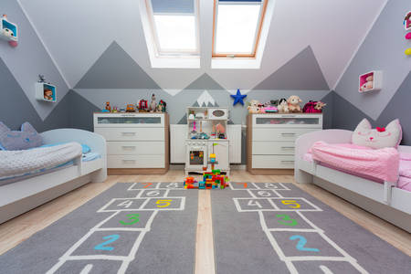 Children's room for a boy and a girl