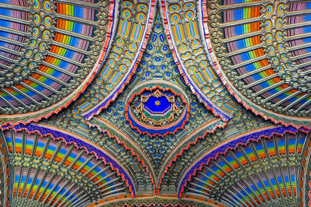 Ceiling of the Peacock Room in the castle of Sammezzano