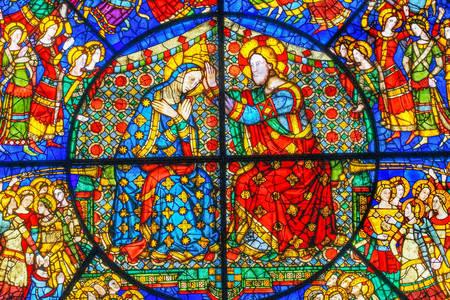 Gebrandschilderd glas in de kerk van Santa Maria Novella