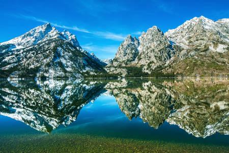 Lake Jenny und Mount Teton