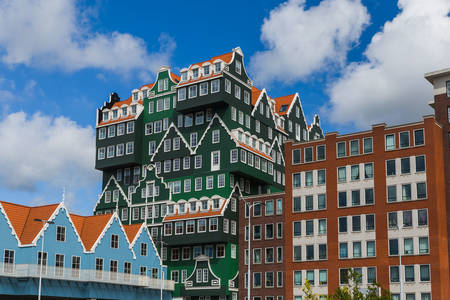 Architecture of houses in Zaandam