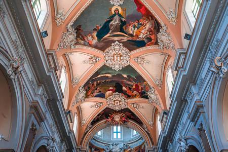 Стенописи на свода на базиликата на Дева Мария от Милостиня