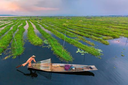 Pescador no Lago Inle