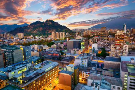 Evening view of Santiago