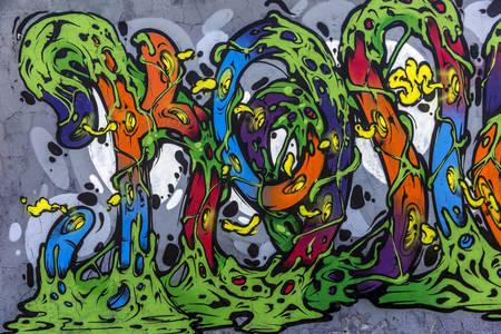 Αφηρημένο γκράφιτι στον τοίχο