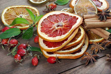 Citrus frips and spices