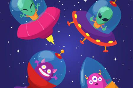 Aliens in spaceships