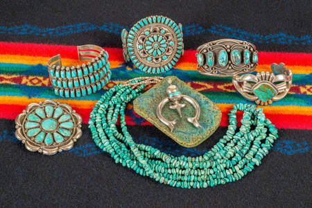 Turquoise necklace and bracelets