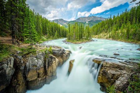Mountain river in Canada