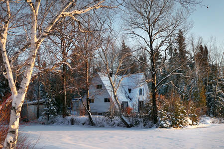 Winter in a canadian village