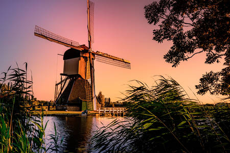 Větrný mlýn Kinderdijk