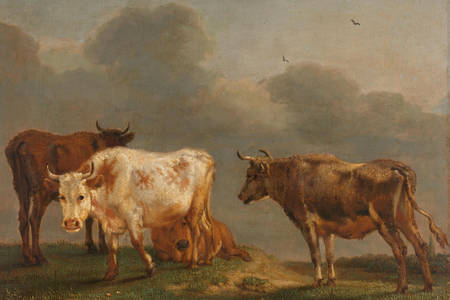 Paulus Potter: Four cows in the meadow
