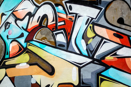 Abstractie graffiti