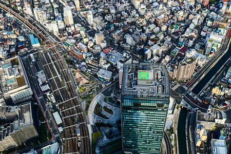 Pohled z Tokia z ptačí perspektivy