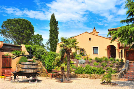 Small wine castle in Provence