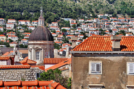 View of the rooftops of Dubrovnik