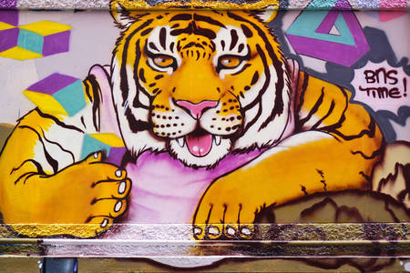 Graffiti with tiger