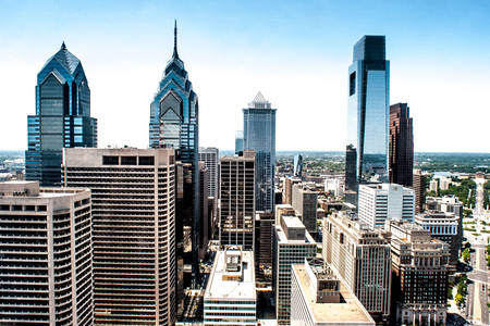 Skyscrapers of philadelphia