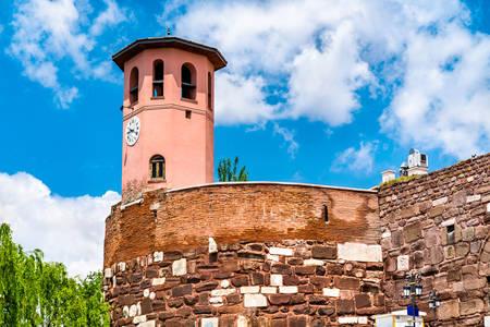 Clock tower in Ankara castle