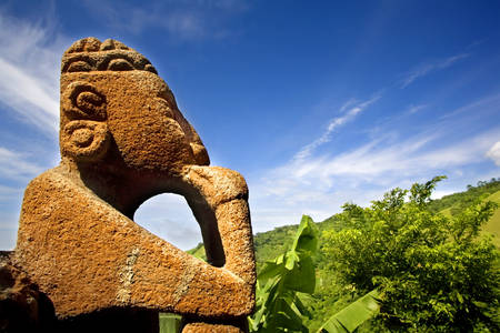 Statua w Kostaryce