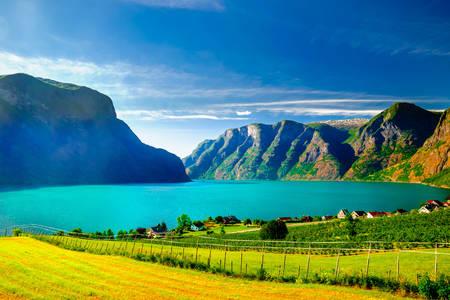 Aurlandsfjord view