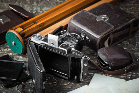 Old camera and accessories