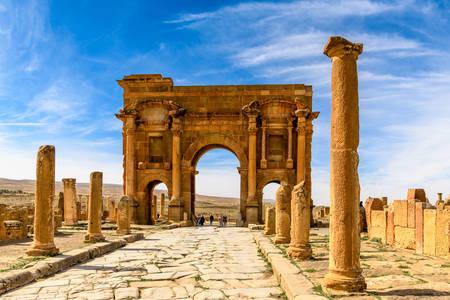 Trajan's Arch in Timgad