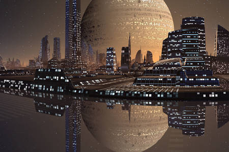 Space city of the future