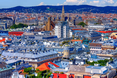 Výhľad na mesto Viedeň